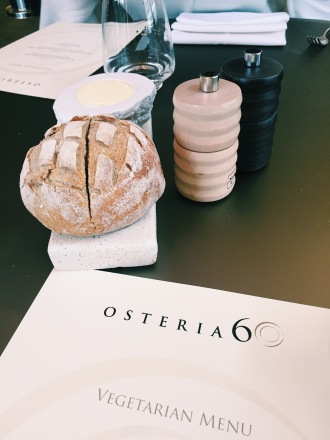 sourdough bread and butter at osteria 60