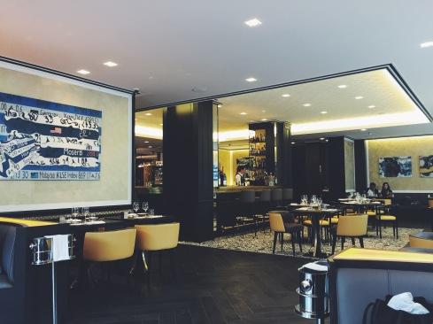 osteria 60 restaurant seating are, art deco style decor